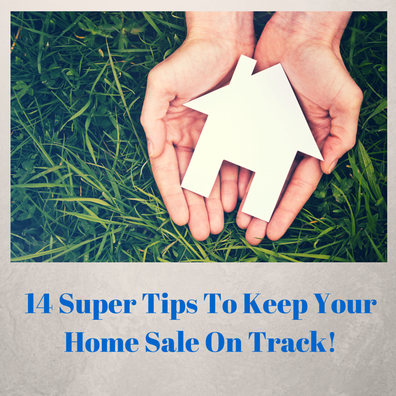 Picture of hand holding a paper cut out of a home for article 17 Supers Tips To Keep Your Home Sale On Track!