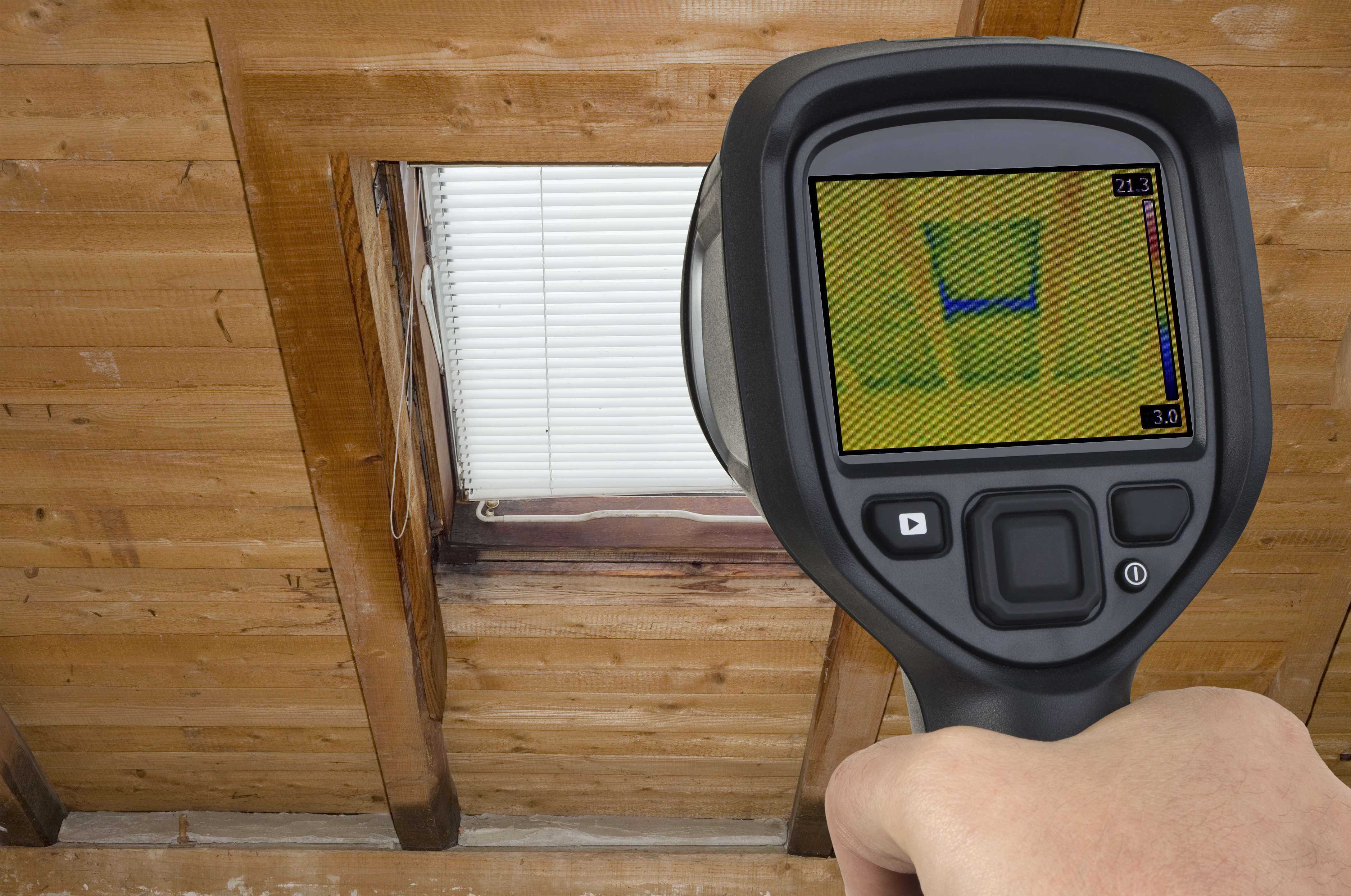 thermal imager attic window