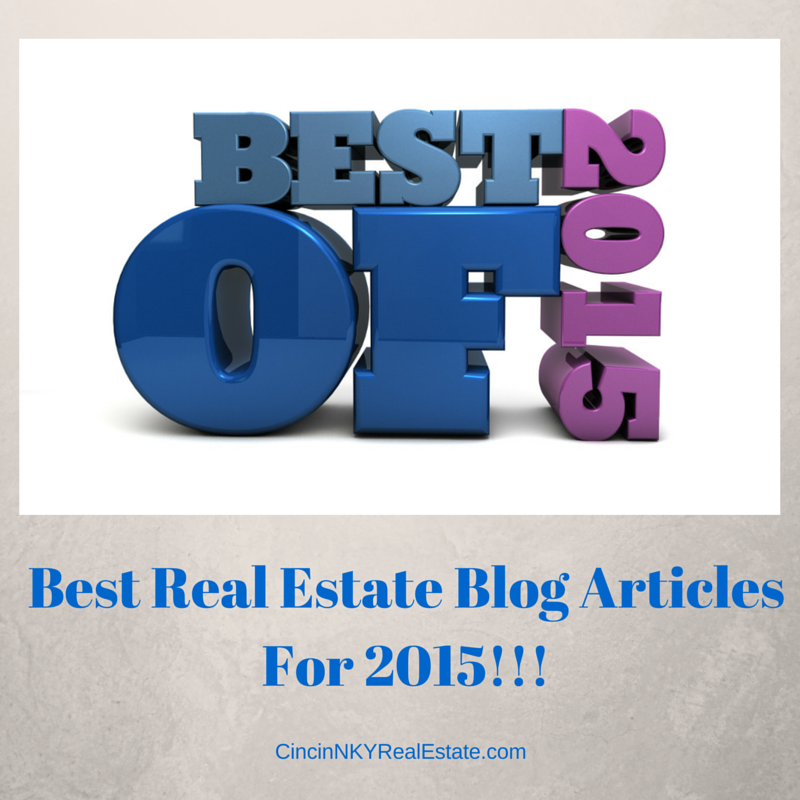 Image with text that says Best Real Estate Blog Articles For 2015.