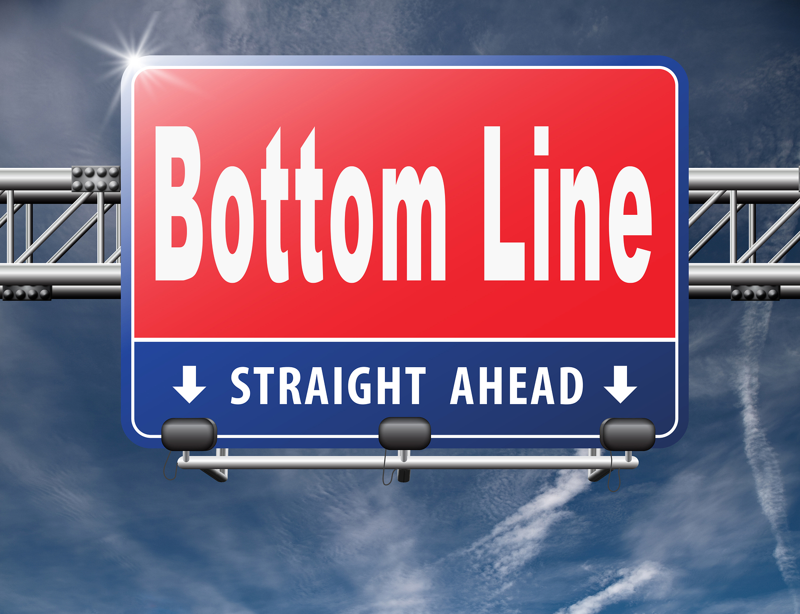 bottom line sign