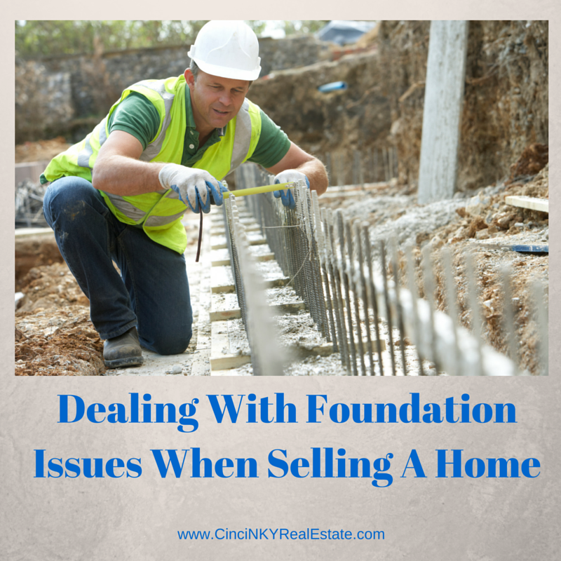 picture of man working on foundation for article dealing with foundation issues when selling a home
