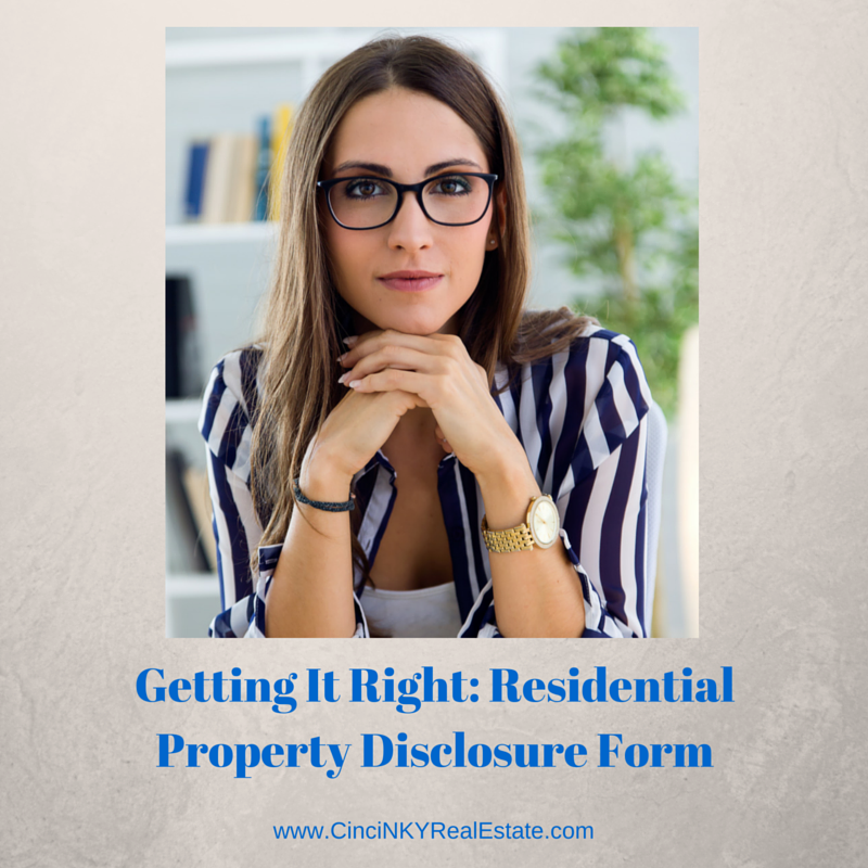 residential property disclosure form image
