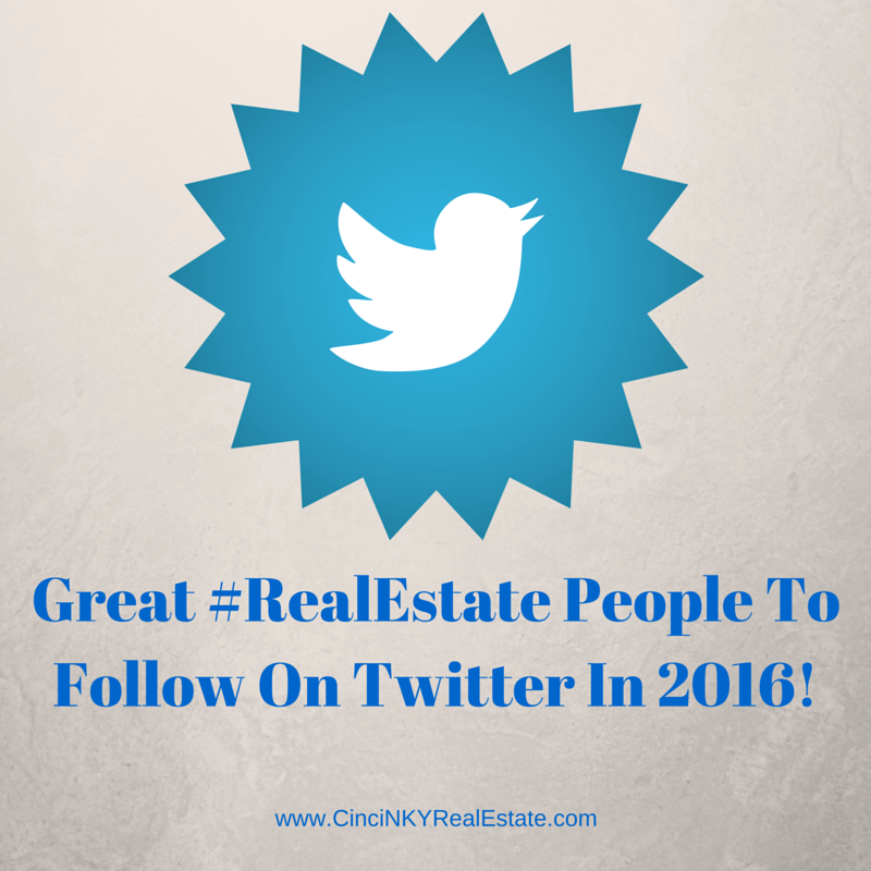 Picture of twitter logo for article about great real estate and marketing people to follow on twitter