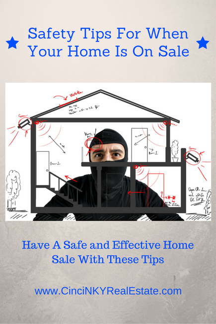safety tips for when your home is on sale picture of a thief planning a burglary