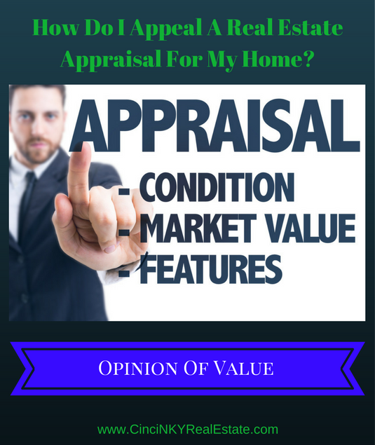how do I appeal a real estate appraisal for my home