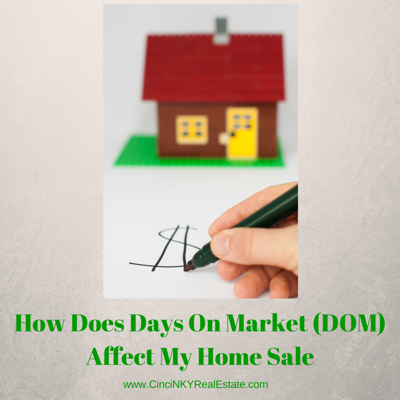 How does days on market (DOM) affect my home sale