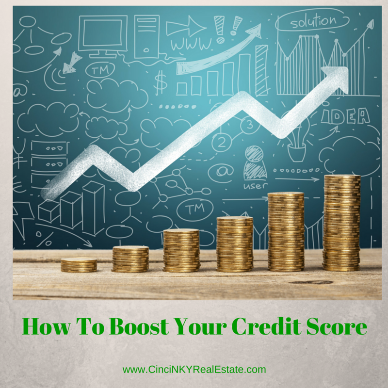 how to boost your credit score prior to applying for a mortgage graphic with coins and chart