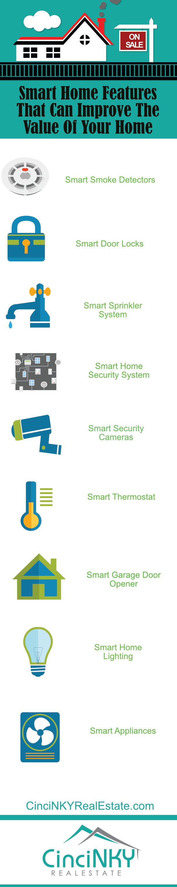 Infographic picture Smart Home Features That Can Improve The Value Of Your Home