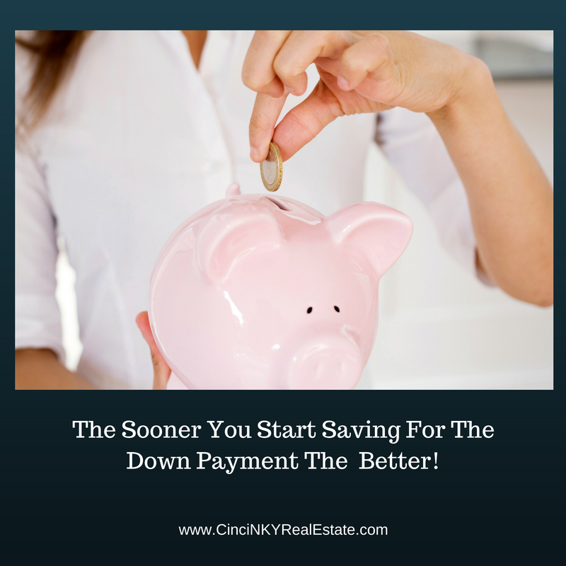 start saving money in your piggy bank for a home down payment
