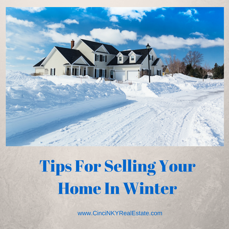 Tips For Selling Your Home In Winter. Picture of luxury home in the snow.