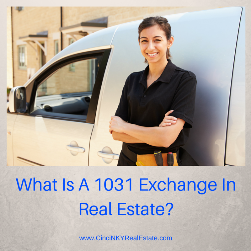 picture of a business woman with text what is a 1031 exchange
