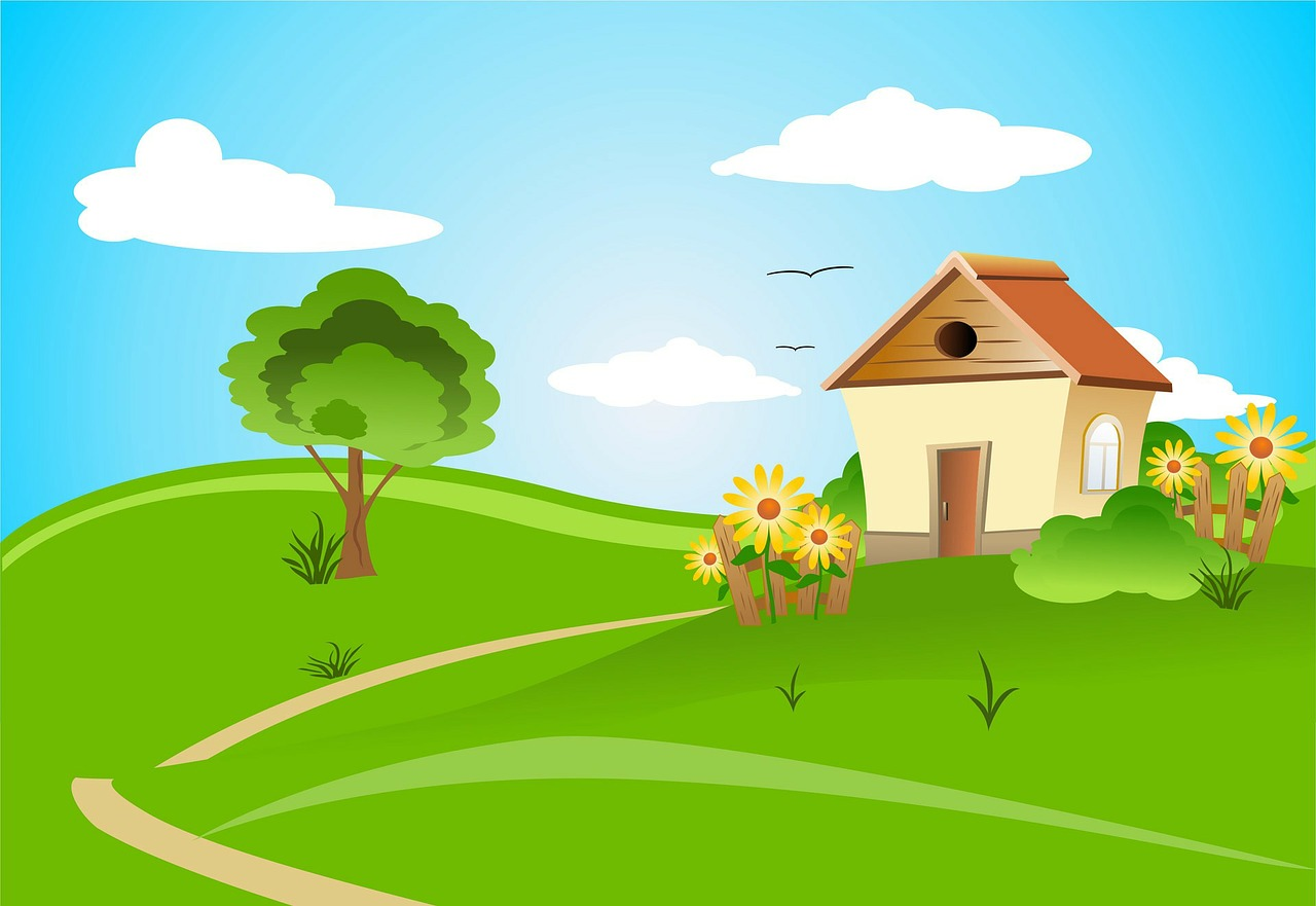 cartoon picture of a home, start choosing a home after you have been pre approved