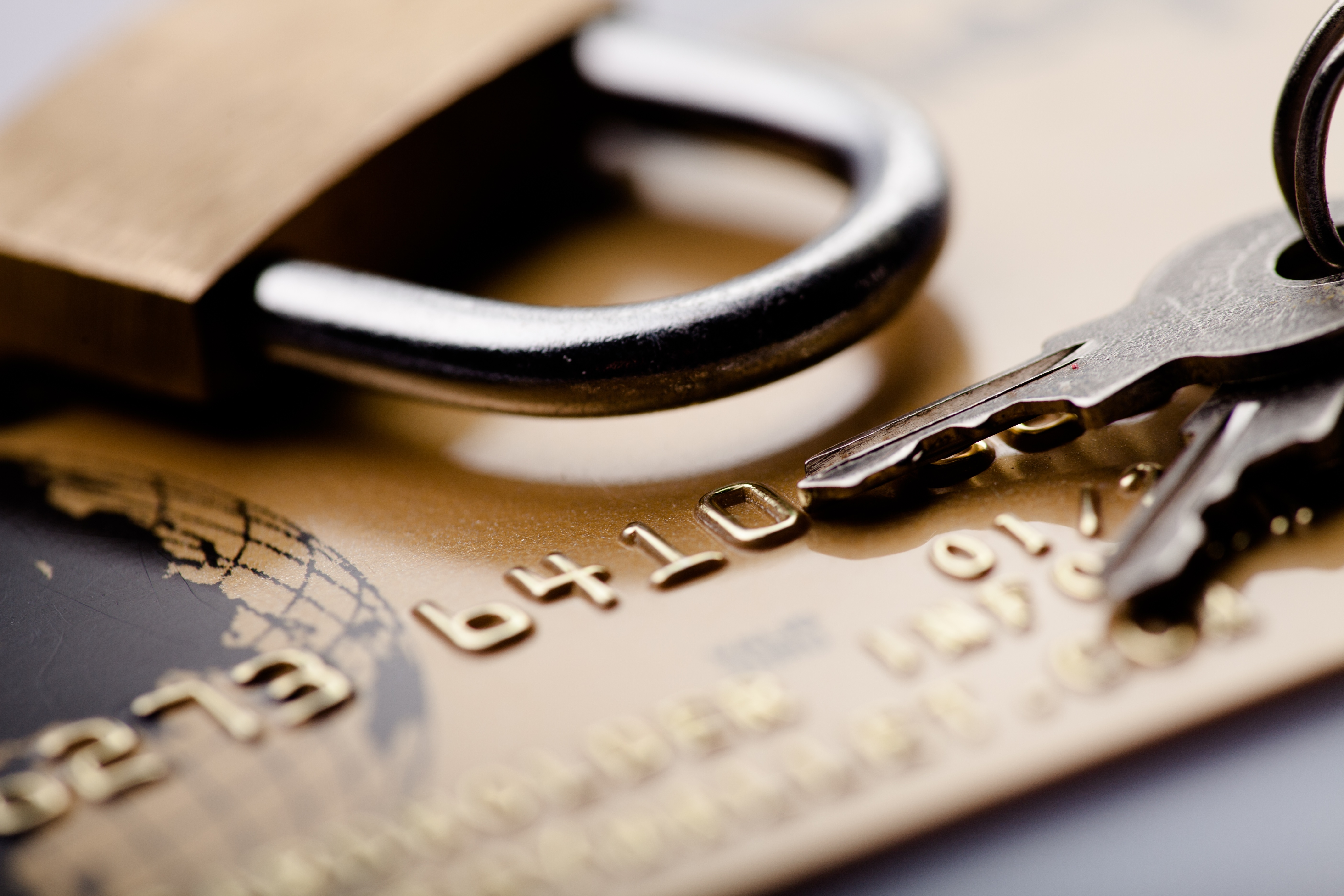 picture of credit card and lock boost credit score