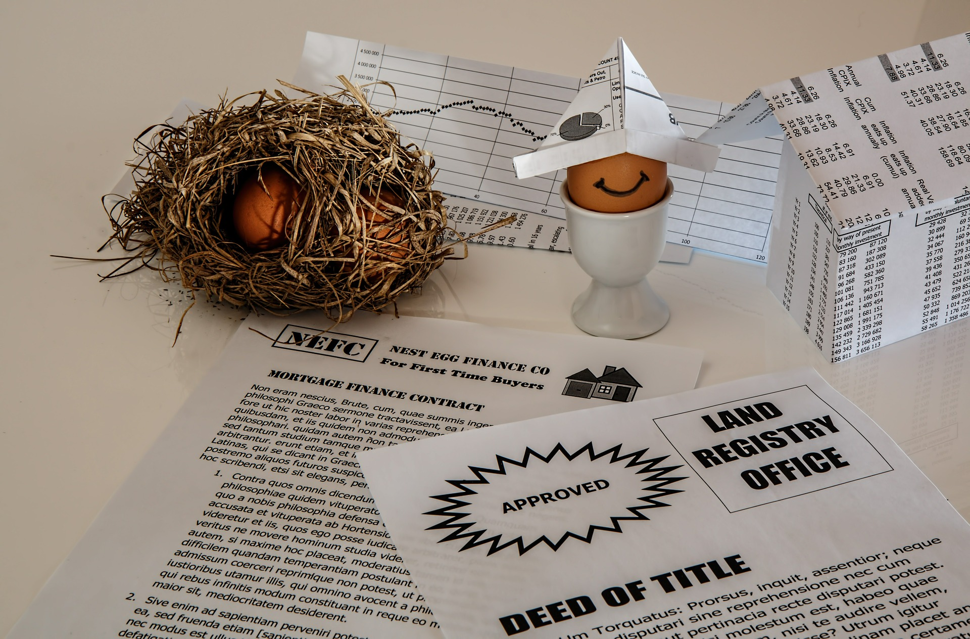 deed mortgage documents and nest egg