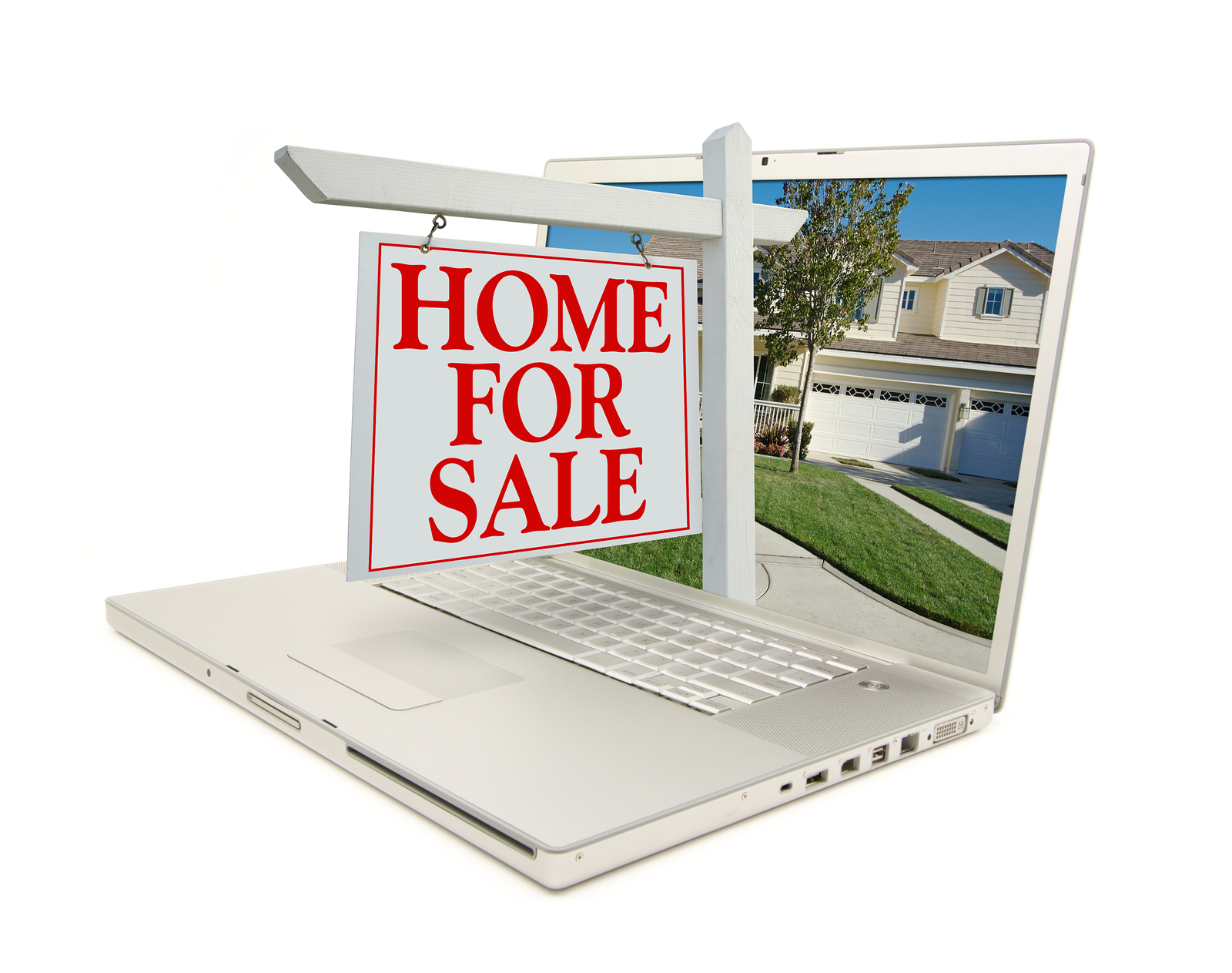 house for sale on computer