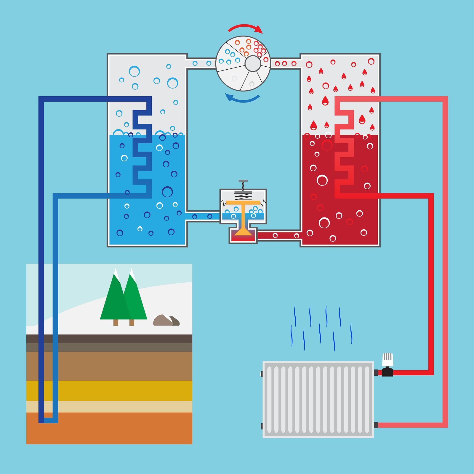 heat pump diagram