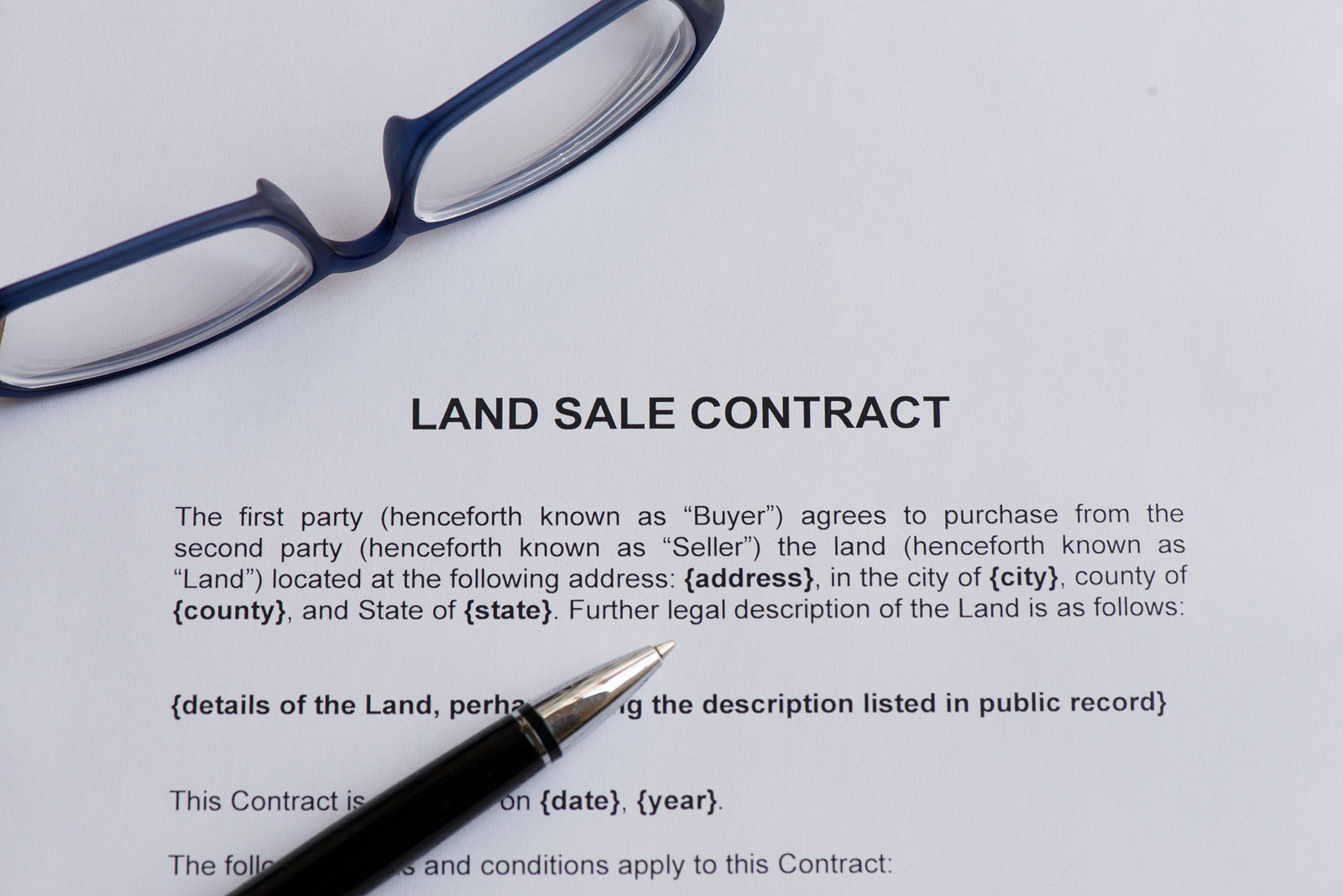 land sale contract