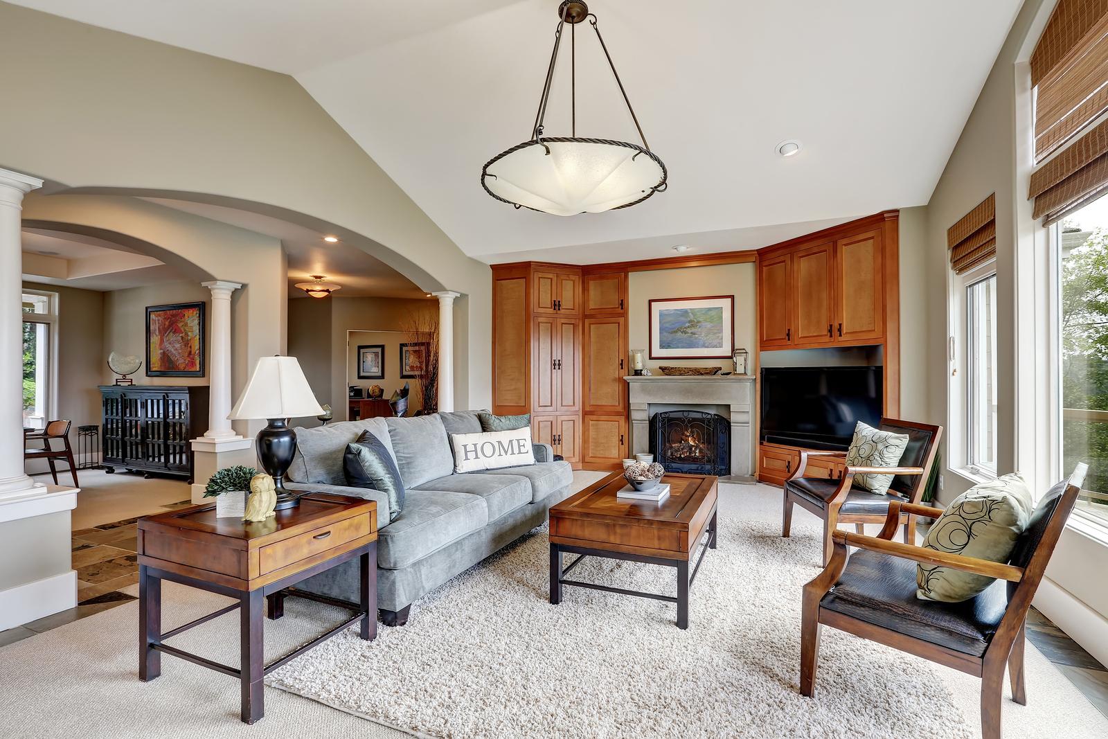 staged luxury living room