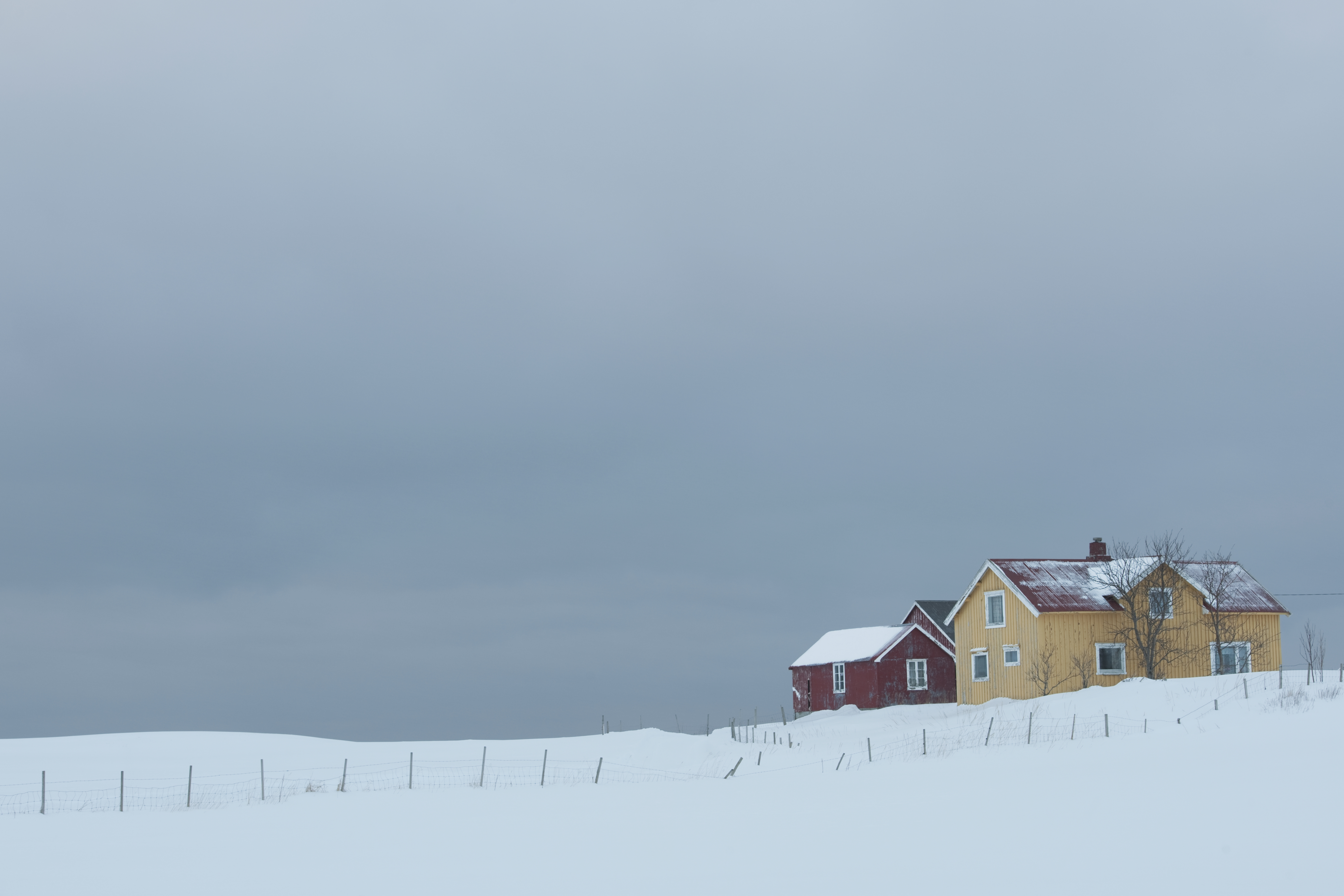 picture of a home in winter