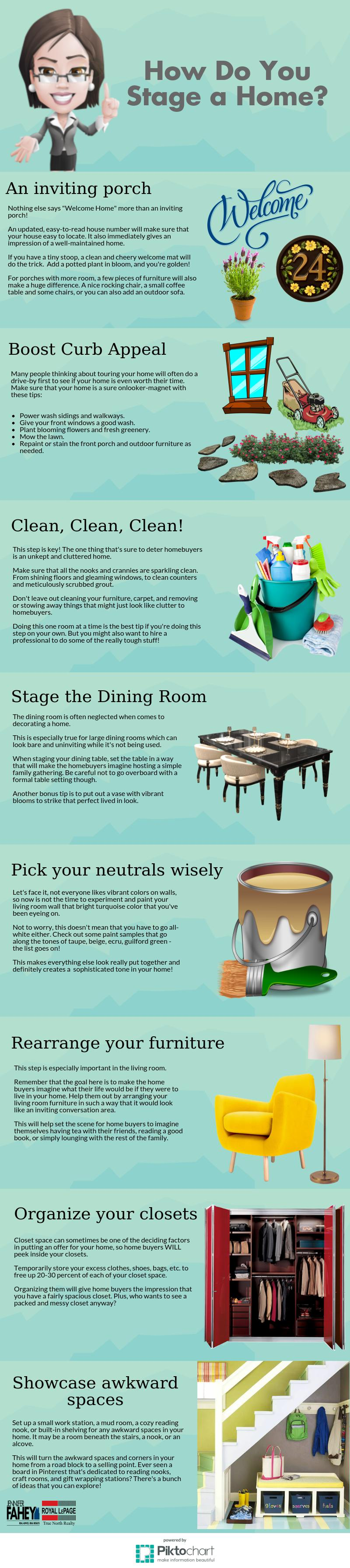 Home Staging Tips Infograph