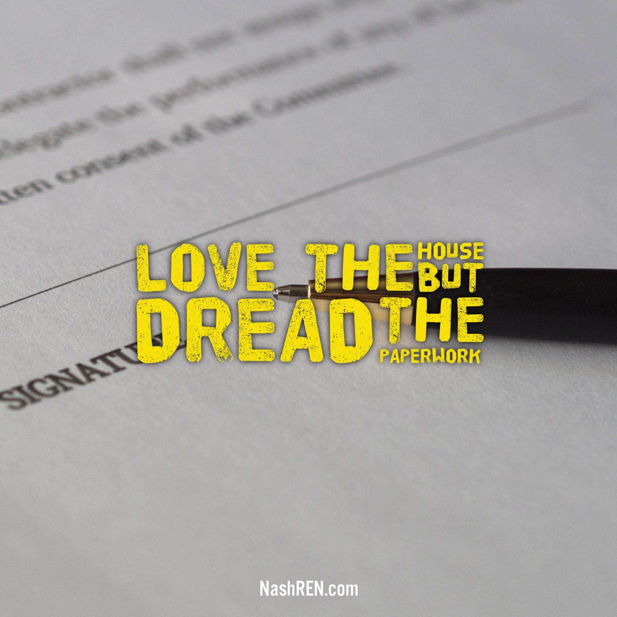 Love the home, Dread the Paperwork
