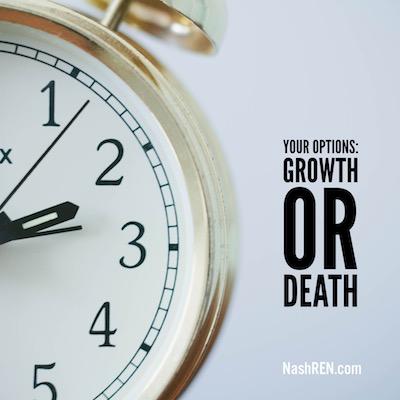 Your choice growth or death