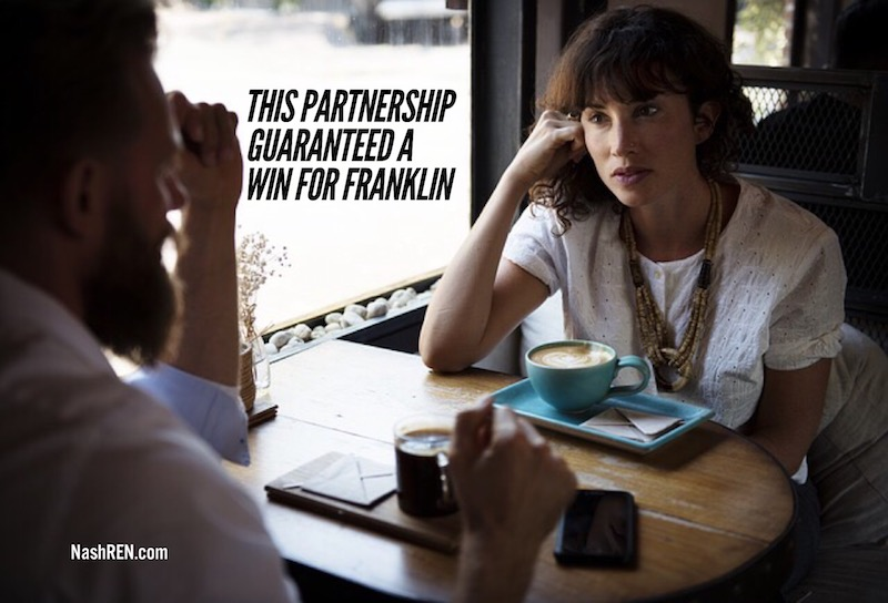 This partnership guaranteed a win for Franklin
