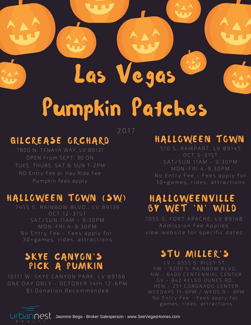 Las Vegas Pumpkin Patches 2017 SeeVegasHomes