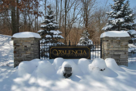 Valencia Village Condo Entrance Winter
