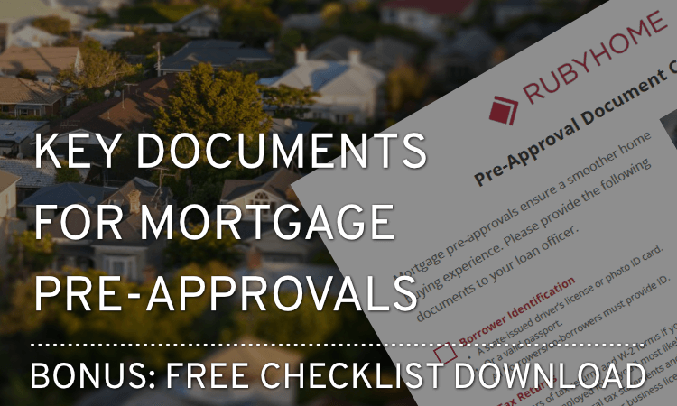 bank of america mortgage pre approval documents