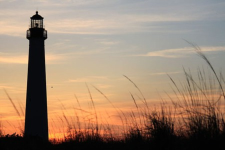 Where are the Lighthouses found in New Jersey?