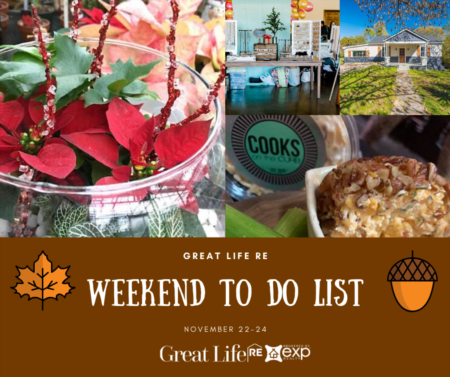 Weekend To Do List, November 22-24, 2019