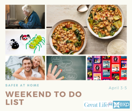 Weekend To Do List - Safer At Home Edition