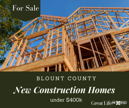 Blount County New Construction Homes Under $400k