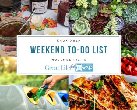 Weekend To Do List - November 13-15, 2020