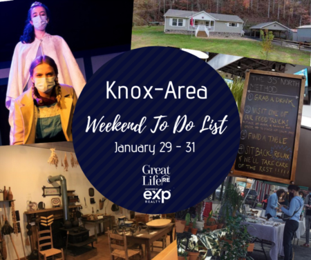 Knox Area Weekend To Do List - January 29-31, 2021