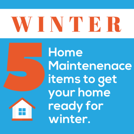 Prepare your Home for Winter -  Top 5 Items to Maintain