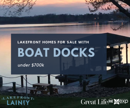 Lakefront Homes For Sale with Boat Docks under $700k