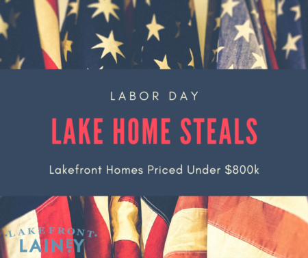 Labor Day Lake Home Steals