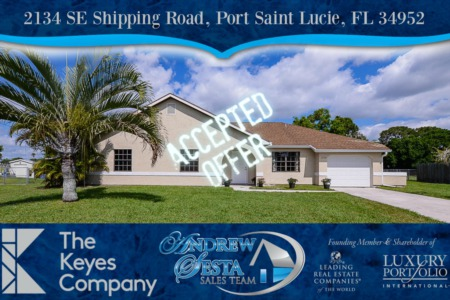 Another Port St Lucie Home Under Contract