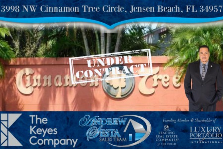 ANOTHER JENSEN BEACH HOME UNDER CONTRACT