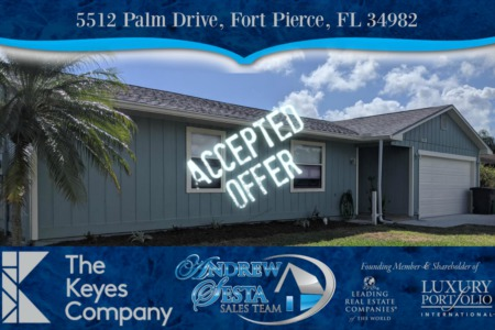 Another Fort Pierce Florida Home Under Contract