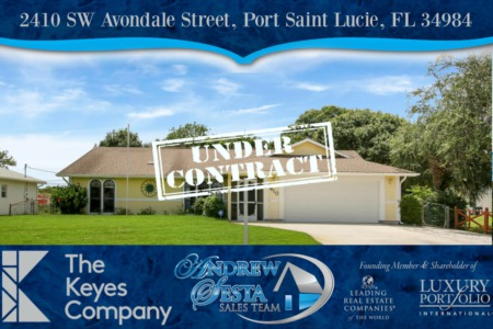 Port St Lucie Home Under Contract In 24 Hours
