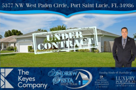 Port St Lucie Home Under Contract in Under 24 hours