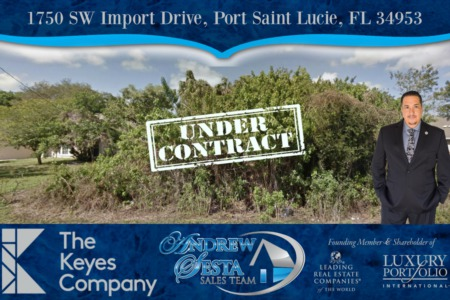 Port St Lucie Lot Under Contract