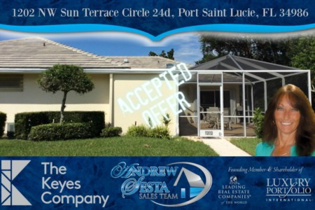 Another Saint Lucie West Home Under Contract