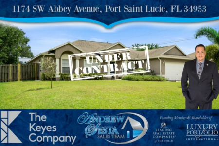 Another Port Saint Lucie Home Under Contract
