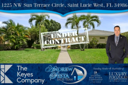 Saint Lucie West Villa Under Contract Andrew Sesta Realtor