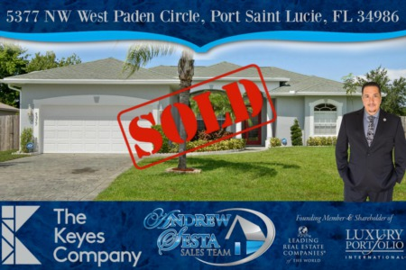 Another Saint Lucie West Torino Area Home Sold