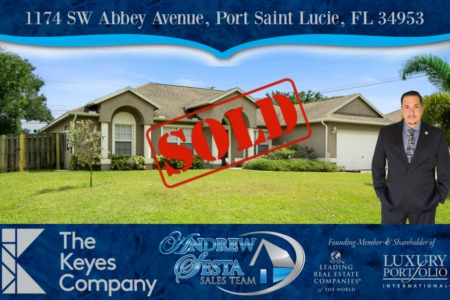 Another Port St Lucie Home Sold and Closed
